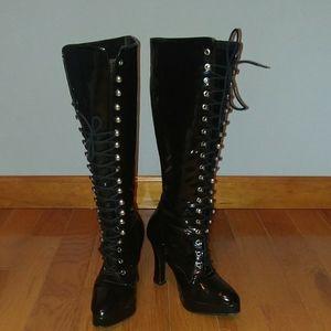 Vintage Morbid Threads platform boots